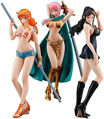 ONE PIECE STYLING ~ Girls Selection ~ 3 pcs Candy Toys & gum (ONE PIECE)