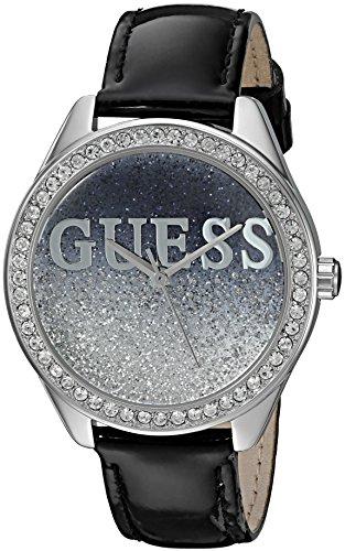 GUESS U0823L2 Silver Tone Crystal Accented Genuine