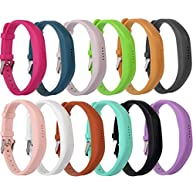 Huishang Flex 2 Accessory Bands for Fitbit Flex 2 / Fitbit flex2, With Chrome Claspor Soft Silicone Fitness Bracelet Strap, Adjustable Repalcement Wrist Band for Fitbit Flex 2 Fitness Smart Watch