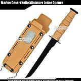 Etrading Small Marine Desert Knife Replica Letter Opener Mini Dagger Tanto Serrated Edge