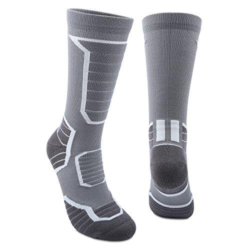 Boealzhl Mens and Womens Socks Athletic Socks High Performance Wicking Cushion Crew Socks