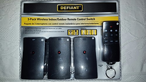 Holiday 3-Pack Wireless Indoor Outdoor Lighting Remote Co...