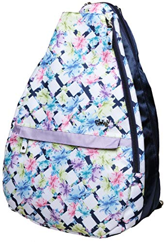 Price comparison product image GloveIt Women's Tennis Backpack - Tennis Gear Bags for Women - Ladies Tennis Racket Backpacks - Tennis Bag for Tennis Balls,  Racquet,  Water Bottle,  Clothing - 2019 Pastel Lattice