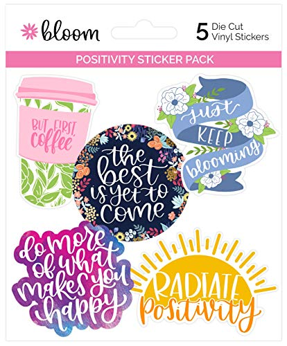 - bloom daily planners Vinyl Sticker Set - 5 Colorful, Hand-Drawn Decals (~3.5