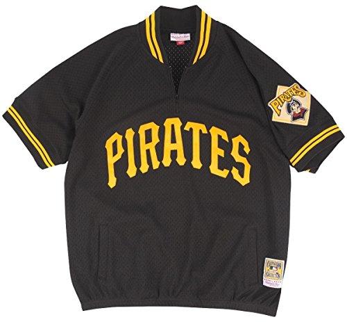 Mitchell & Ness Pittsburgh Pirates Men's Authentic 1/4 Zip Mesh Batting Practice Jersey (Small)
