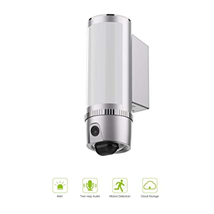 FREECAM L910 Floodlight Security Camera Motion-Detected HD Wall-light security Cam Two-