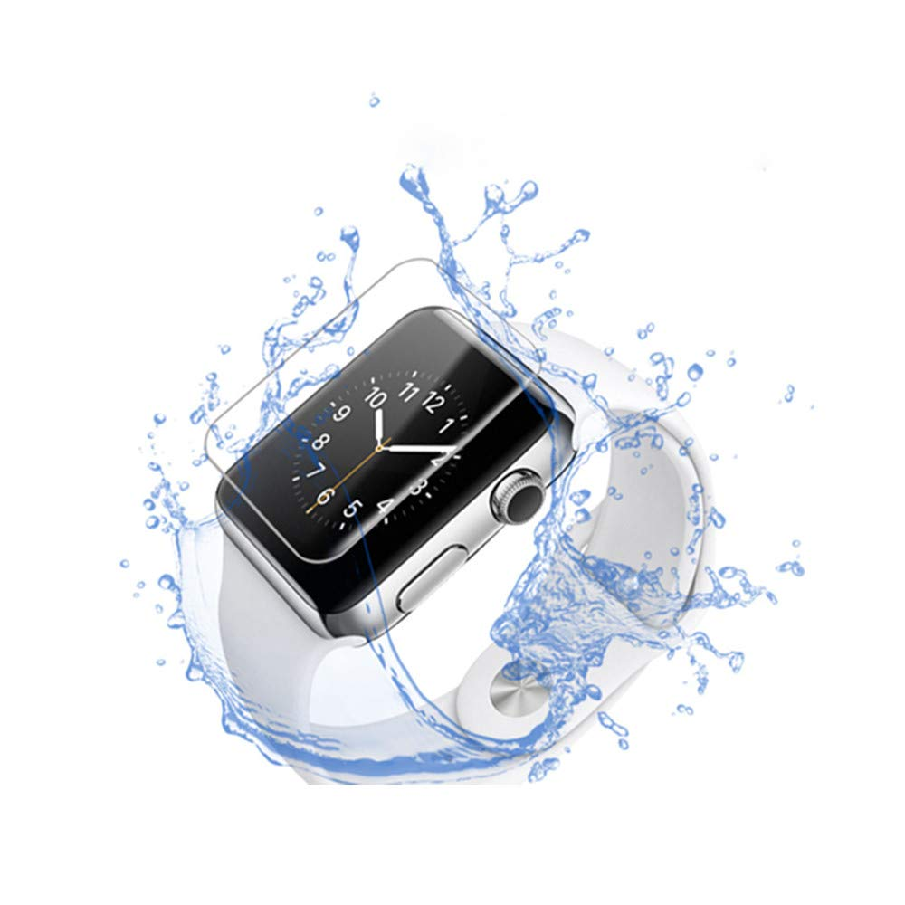 6D Tempered Glass Screen Protector for 42mm iWatch, 4packs by Mobpro