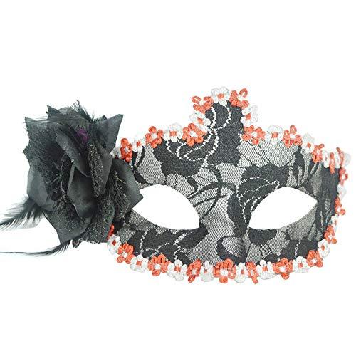South Weekend Stunning Black Venetian Masquerade Mask Eye Halloween Party Lace Fancy Dress 2018 (Black) -