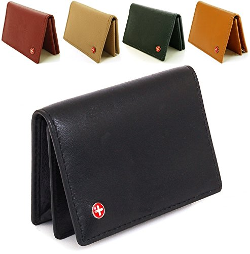 Alpine swiss genuine leather thin business card case minimalist alpine swiss genuine leather thin business card case minimalist wallet buy online in uae apparel products in the uae see prices reviews and free reheart Choice Image