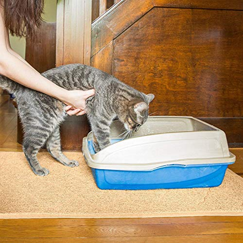 Premium Large Cat Litter Mat 35 x 23, Traps Messes, Easy Clean, Durable, Litter Box Mat with Scatter Control - Soft on Kitty Paws