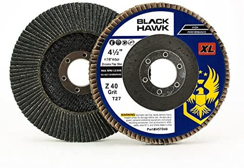 "5 Pack 4.5/"" x 7//8/"" XL 60 Grit High Density Flap Discs Jumbo Grinding Wheels T27"