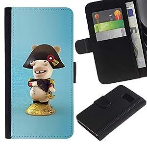 EJOY---La carpeta del tirón la caja de cuero de alta calidad de la PU Caso protector / Samsung Galaxy S6 / --Figura divertida