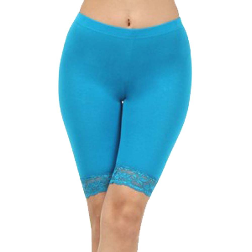 elegance1234 Girl's Cotton Lycra Cycling Shorts Above Knee Lace Leggings Stretchy Quality For School/Sport(Ref:3120lace)