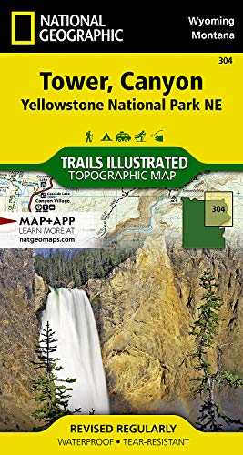 Tower, Canyon: Yellowstone National Park NE (National Geographic Trails Illustrated Map)