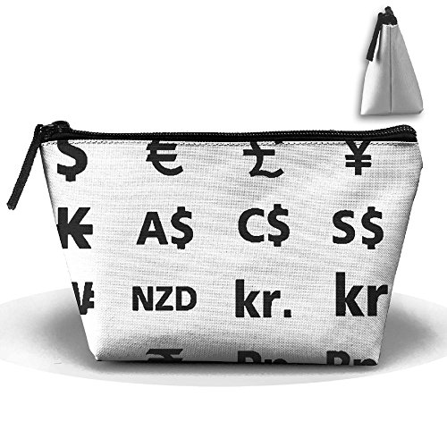 Currency Symbols Travel Bag Cosmetic Bag Storage Toiletries Cords And Chargers Zipper Pouch Bag