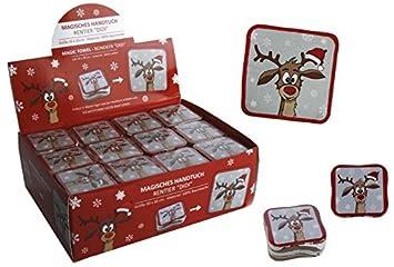 36er Box Magisches Handtuch Rentier - tolle Wichtelgeschenke - Weihnachts Give Away