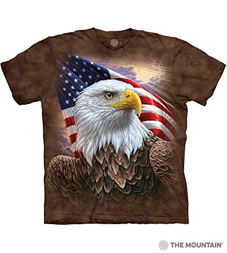 The Mountain Independence Eagle Adult T-Shirt, Brown, Large