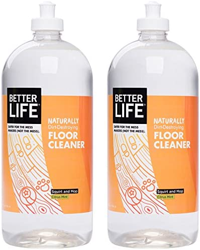 Better Life Naturally Dirt-Destroying Floor Cleaner, Citrus Mint, 32 Fl Oz (Pack of two)