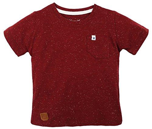 [Lilax Boys' Short Sleeve Crew Neck T-Shirt 5 Burgundy] (Cute Cheerleading Outfits)