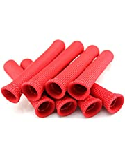SWI Parts Spark Plug Protect Boot Heat Shield Thermal Protection Insulator 1 Inch ID x 6 Inches Long Pack of 8 (Red)