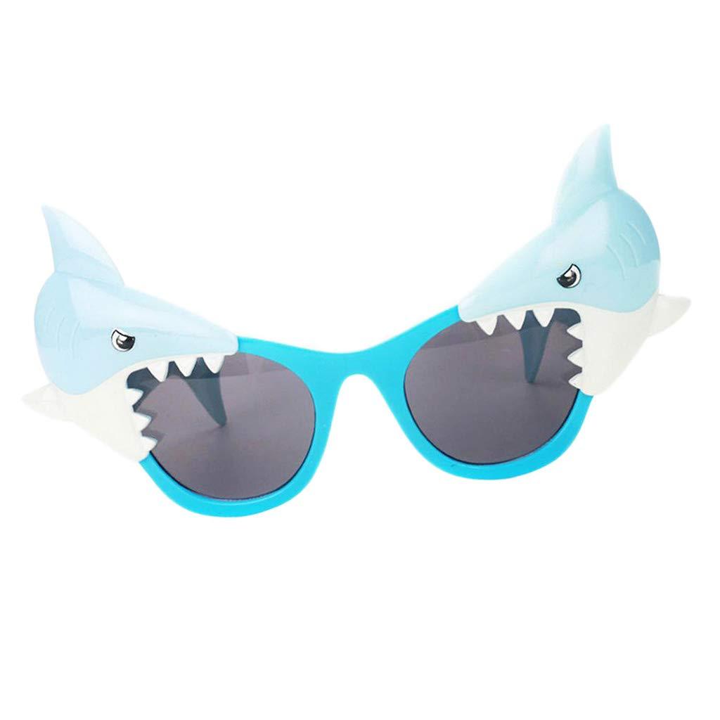 B Baosity Gafas de Sol Forma Tiburón Divertido Novedad Fiesta Foto Props Cumpleaños Disfraces Festival Decoración de Hogar