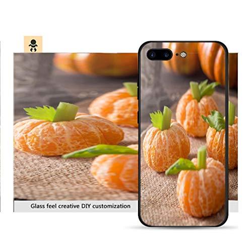 iPhone 7p / 8p Ultra-Thin Phone case Healthy Halloween Treats Tangerine Pumpkin Kids Fun Resistance to Falling, Non-Slip, Soft, Convenient Protective case -