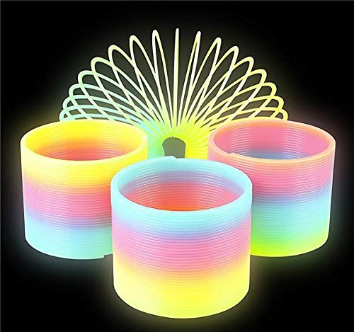 Rhode Island Novelty 80mm Glow In Dark Magic Coil Spring | Pack Of 10 |