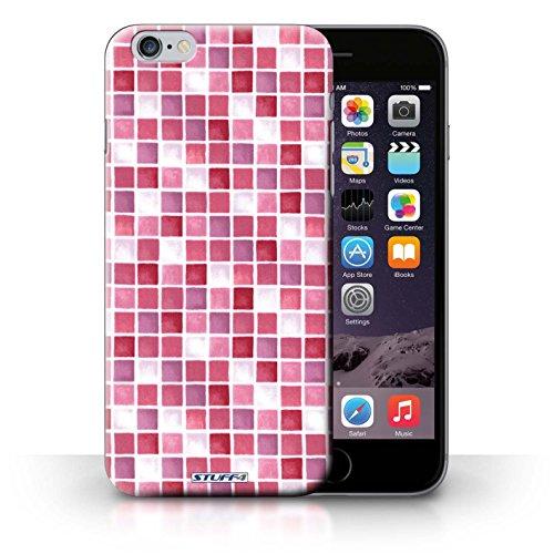 Hülle Case für iPhone 6+/Plus 5.5 / Rot/Pink Entwurf / Bad Fliesen Collection