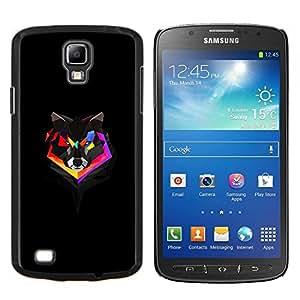 TECHCASE---Cubierta de la caja de protección para la piel dura ** Samsung Galaxy S4 Active i9295 ** --Geometría del arco iris del lobo