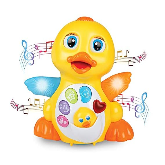 Toykart Educational Toy Duck with Light and Music