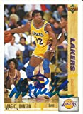 1991 LA Lakers Magic Johnson Signed Auto Card IN PERSON PROOF - Upper Deck Certified - Basketball Autographed Cards