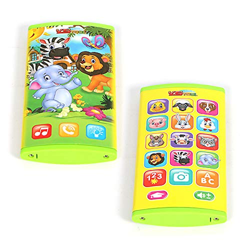 - Cooplay Orange Yphone Cell Phone Toddle Toy Touch Screen Play Music Education Learning ABC English Electronic Mobile Cellphone Like yphone 6 7 for Baby Children