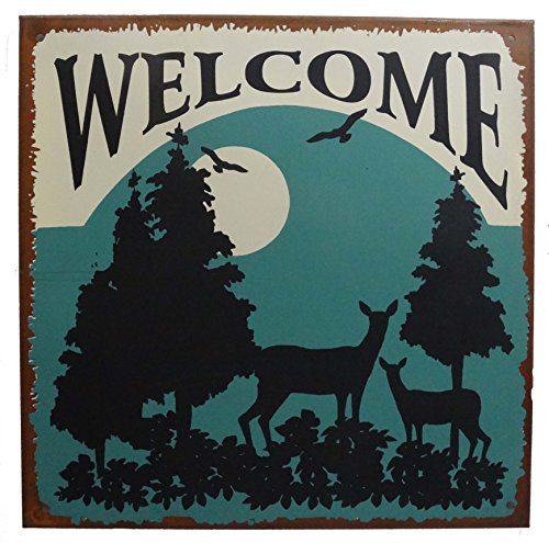 Welcome to Nature the Great Outdoors Country Wildlife Deer Rustic 10
