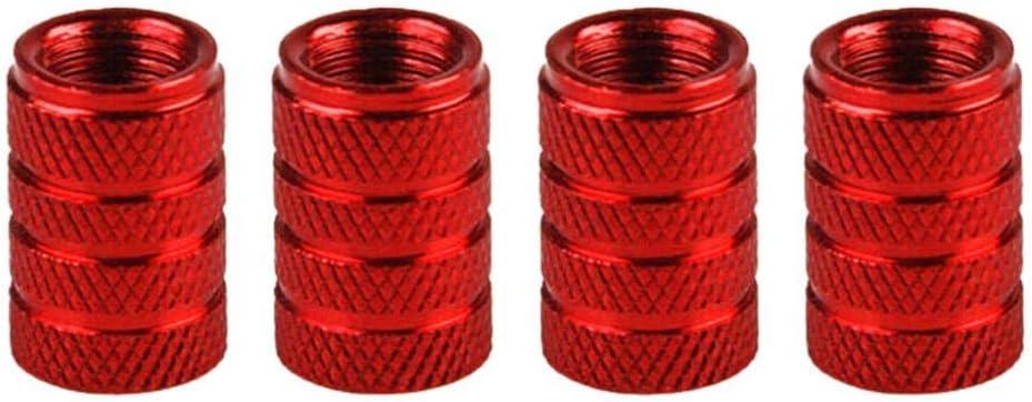 Difcuy 4pcs car tire Color Aluminum Alloy Valve Cap Wheel Valve Mouth Cover dust tire Pressure Protective Cap