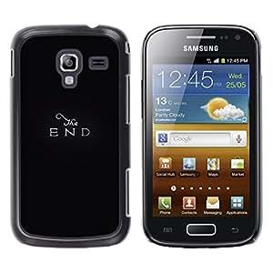 Be Good Phone Accessory // Dura Cáscara cubierta Protectora Caso Carcasa Funda de Protección para Samsung Galaxy Ace 2 I8160 Ace II X S7560M // End The Movie Retro Black Text Minimal