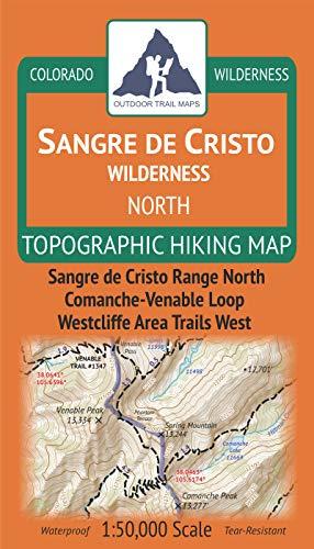 Sangre de Cristo Wilderness North - Colorado Topographic Hiking Map (2019)
