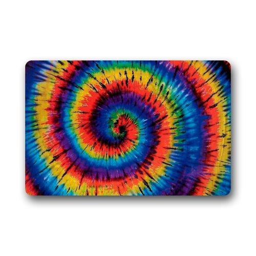 Top Fabric U0026 Non Slip Rubber Indoor/Outdoor Doormat Door Mats   Colorful  Tie Dye Trippy Lollipop Art Floor Mat Rug For Home/Office/Bedroom