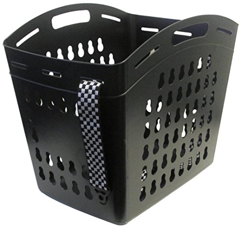 United Solutions LN0330 Black Hands Free Laundry Tote -Laundry Basket with Shoulder Strap for Hands Free Carrying in Black