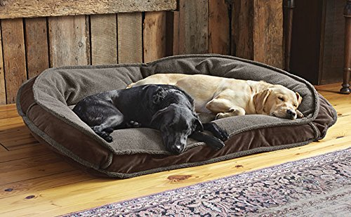 Orvis Deep Dish Dog Bed With Fleece / Medium Dogs 40-60 Lbs., (Nuzzle Nest Dog Pet Bed)