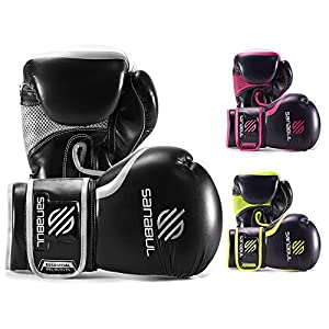 Sanabul Essential Gel Boxing Kickboxing Punching Bag Gloves