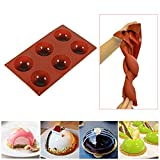 6 Holes Silicone Mold for Chocolate Bomb, Half