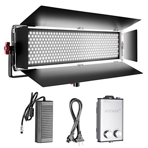 Neewer Dimmable Bi-color SMD LED with U Bracket and Barndoor Professional Video Light for Studio,YouTube, Product Photography,Video Shooting, Durable Metal Frame,800 LED Beads, 200W,3200-5600K,CRI 95+ by Neewer