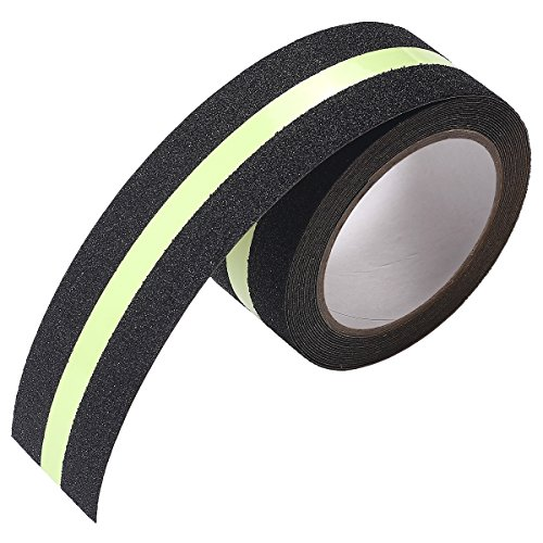 Self Adhesive Safety Tape - Anti Slip Tape , IMLEZON Stair Treads Luminous Self Adhesive Tape Anti Slip Safety Tape High Traction Strong Grip Abrasive Not Easy Leaving Adhesive Residue Indoor & Outdoor