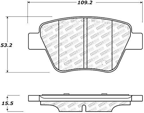 StopTech 309.14560 Sport Brake Pads with Shims and Hardware ()