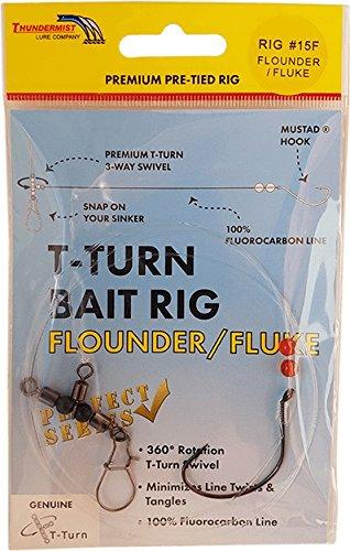 T-Turn Thundermist Lure Company Bait Rig - Flounder/Fluke, Fluorocarbon