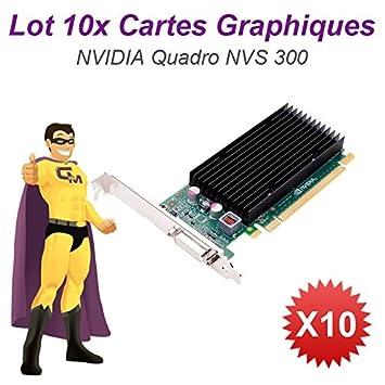 Lot x10 Tarjeta gráfica NVIDIA Quadro NVS300 04 m1wv PCIe ...
