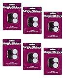 MAGIC SLIDERS L P 4273 1-1/4'' RND Slider, Sold as 6 Pack, 24 Count Total