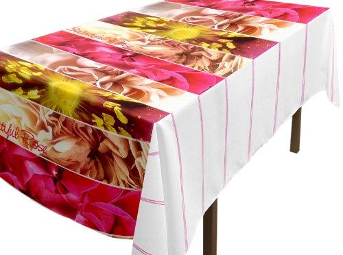 Soleil docre 857126 Hule Rectangular Estampado Beautiful Rosa Tejido//PVC 140x240 cm