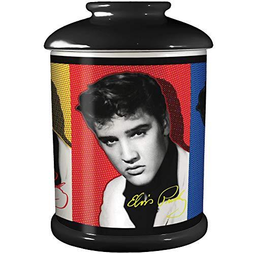 Elvis Presley Panels Cookie Jar Canister-Style King Kitchen ()