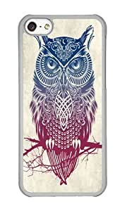 linJUN FENGApple Iphone 5C Case,WENJORS Cool Evening Warrior Owl Hard Case Protective Shell Cell Phone Cover For Apple Iphone 5C - PC Transparent